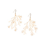 Load image into Gallery viewer, Soft Rime Freshwater Pearl Flower Drop Earrings