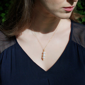 Garden Peas Necklace, 18k Gold Vermeil