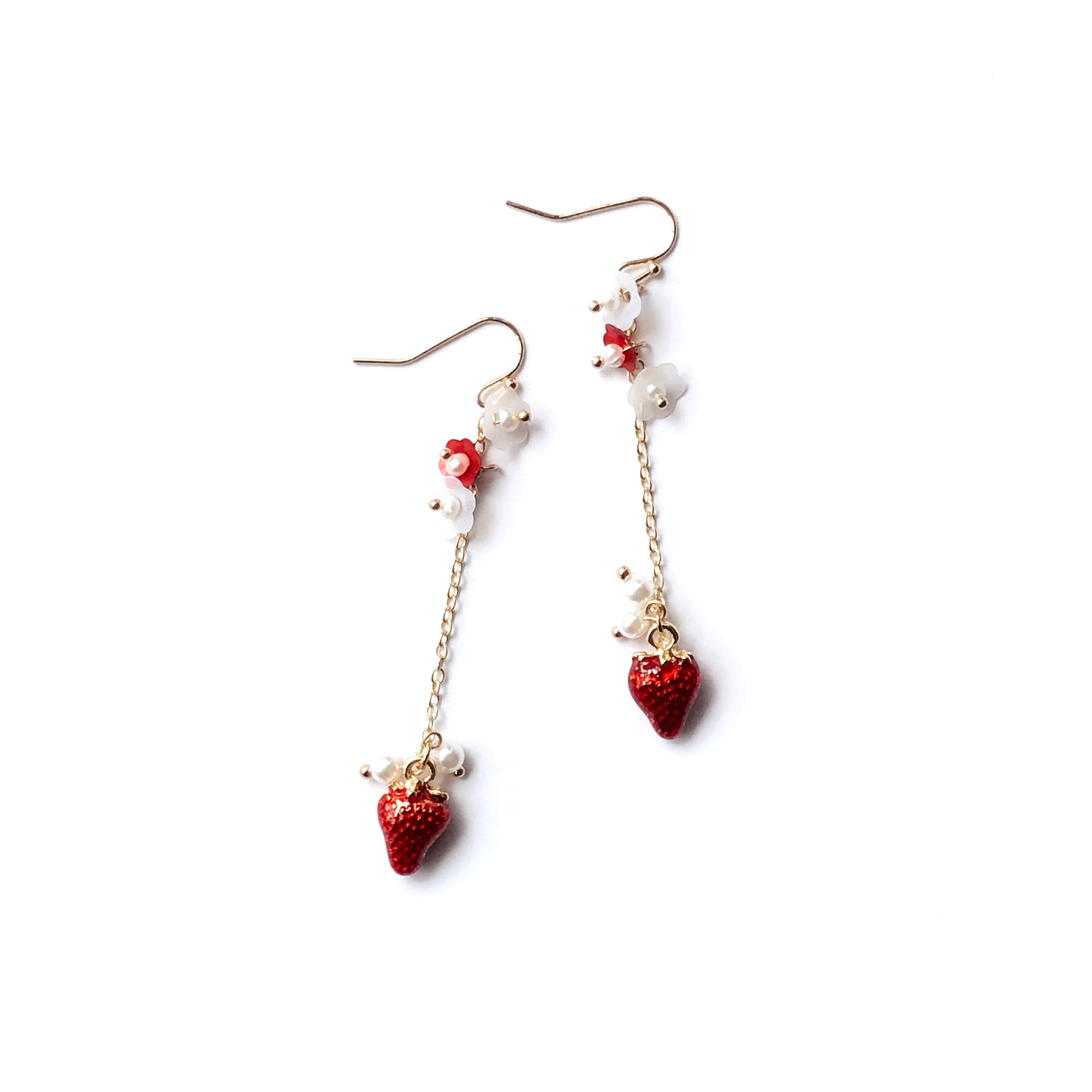 Strawberry Chain Drop Earrings