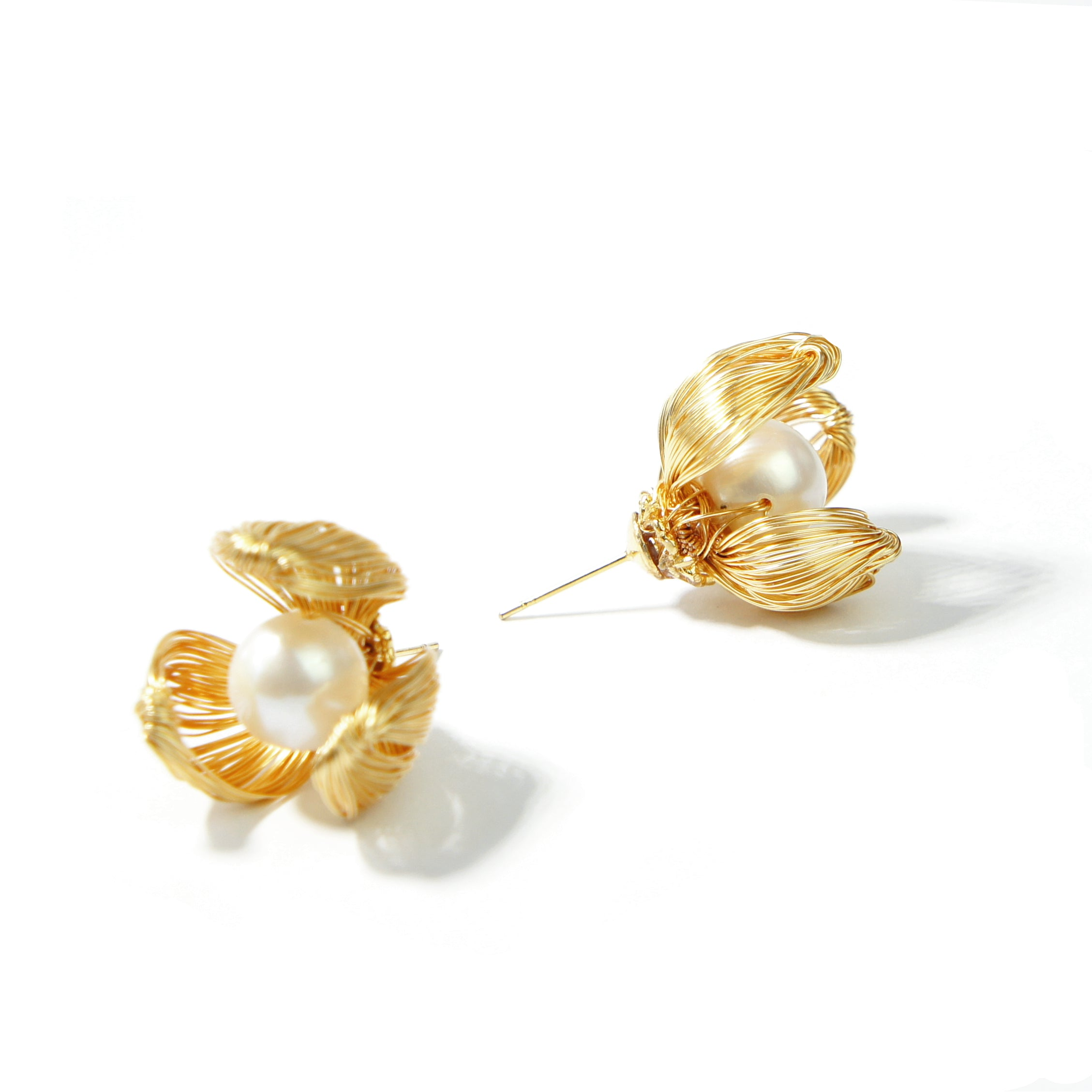 Iris 10mm Freshwater Pearl Studs Earrings