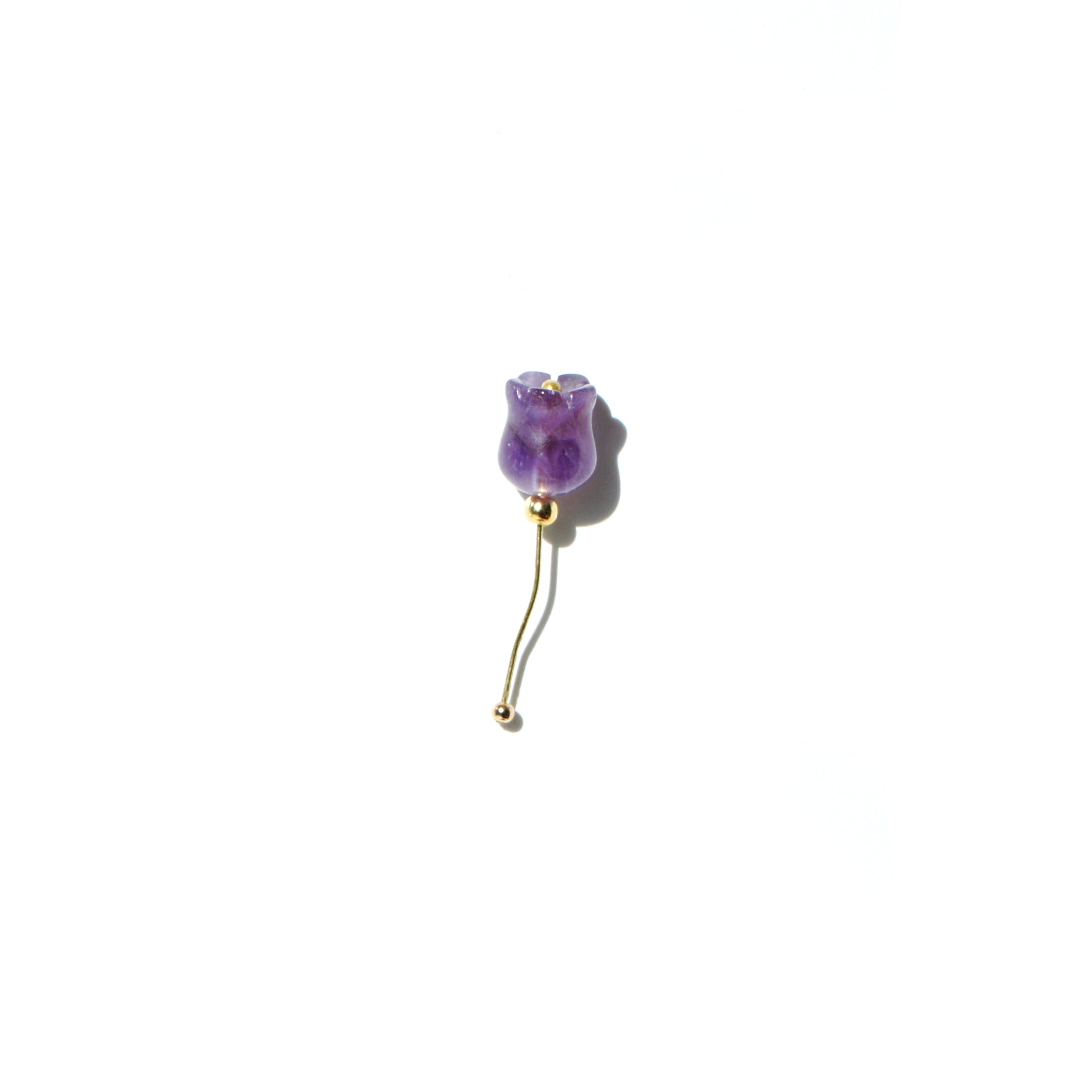 Tulip with Stem Single Earring (two ways)