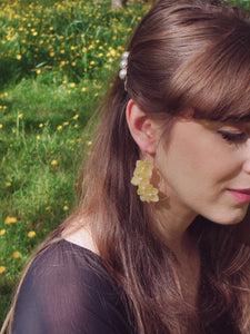 Invincibelle Hydrangea Flower Drop Earrings