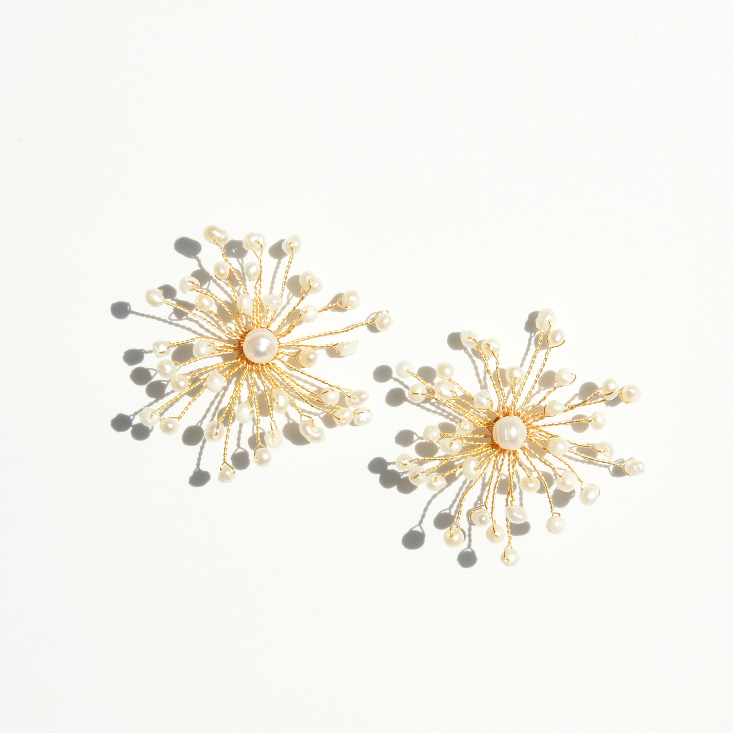 Baby's Breath Freshwater Pearl Stud Earrings