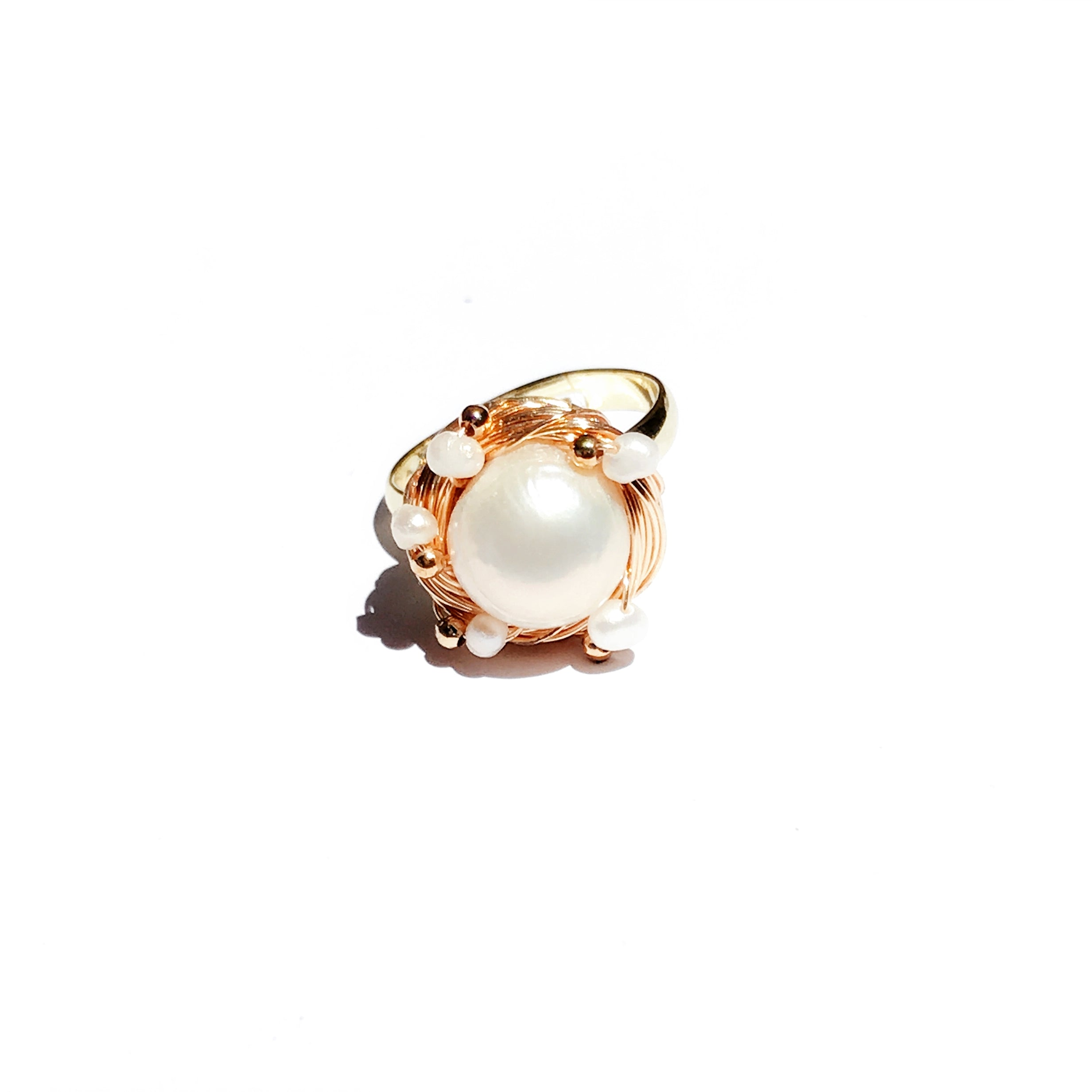 All Wrapped Up 10mm Freshwater Pearl Ring