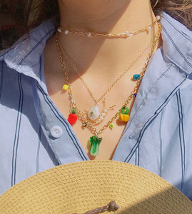 Garden Produce Necklace with Vegetable Charms