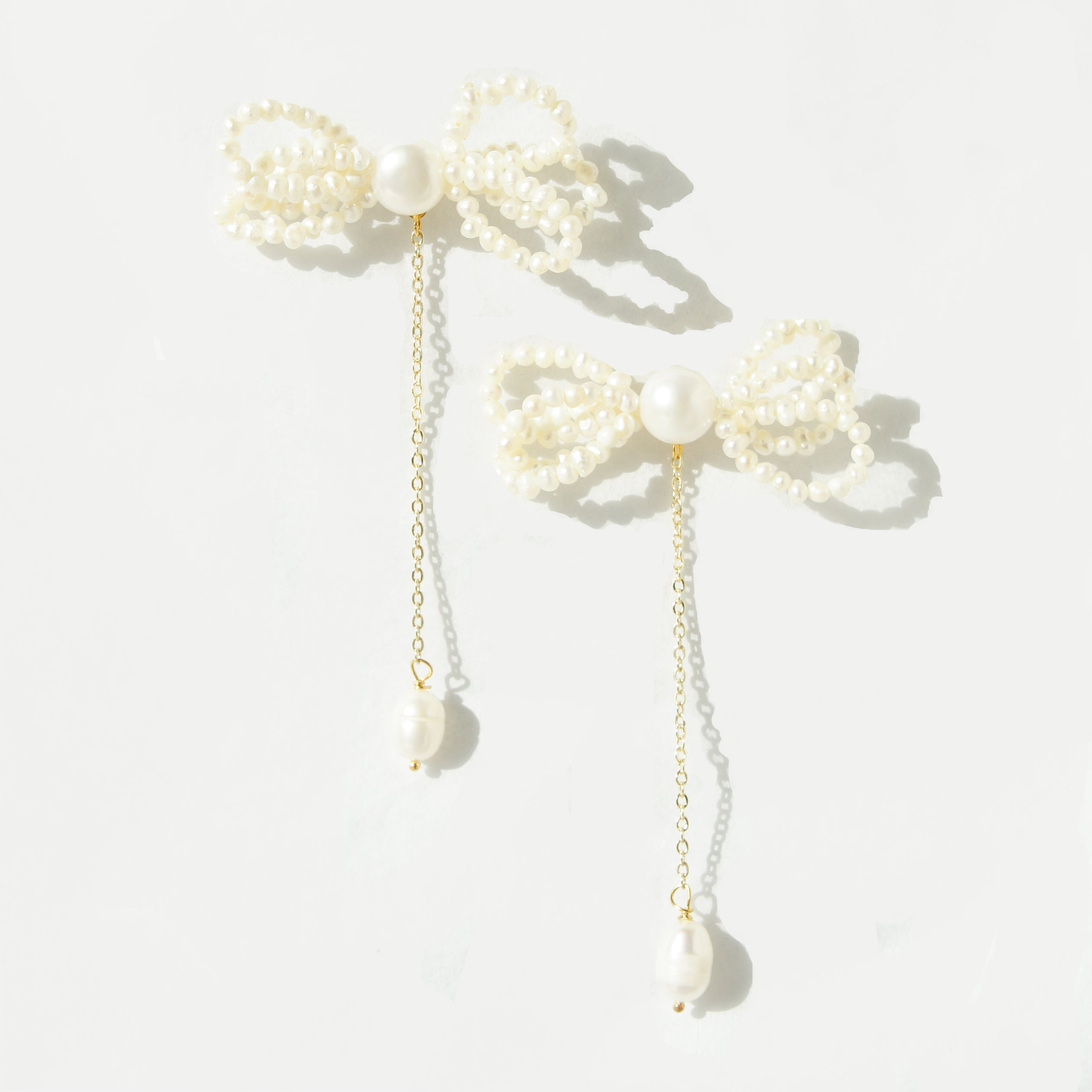 Bonnie Freshwater Pearl Bow and Chain Drop Earring(s)