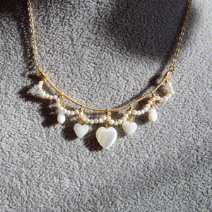 Amoretti Mother Of Pearl Heart Necklace