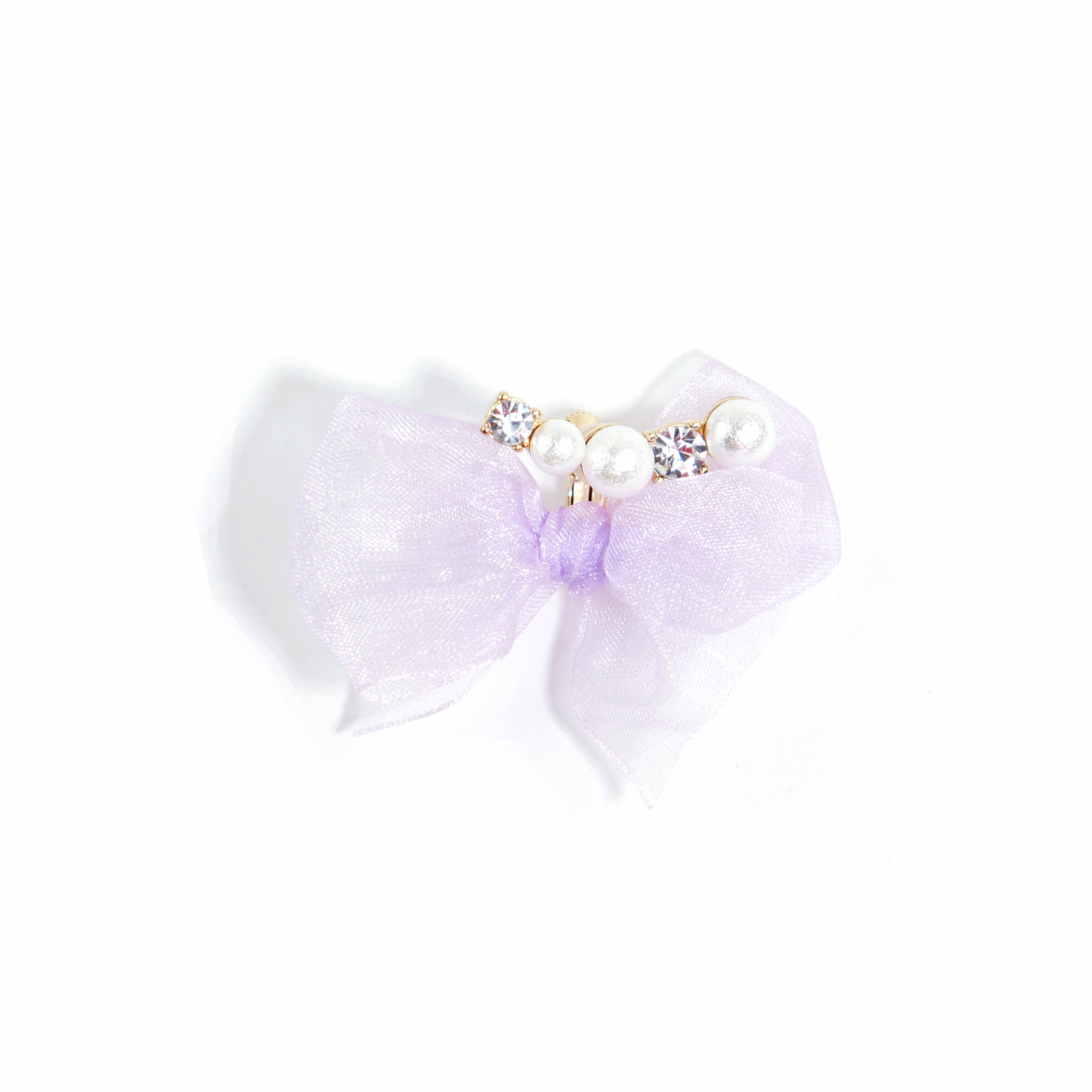 Dream a Little Dream Lilac Organza Bow Single Ear Crawler