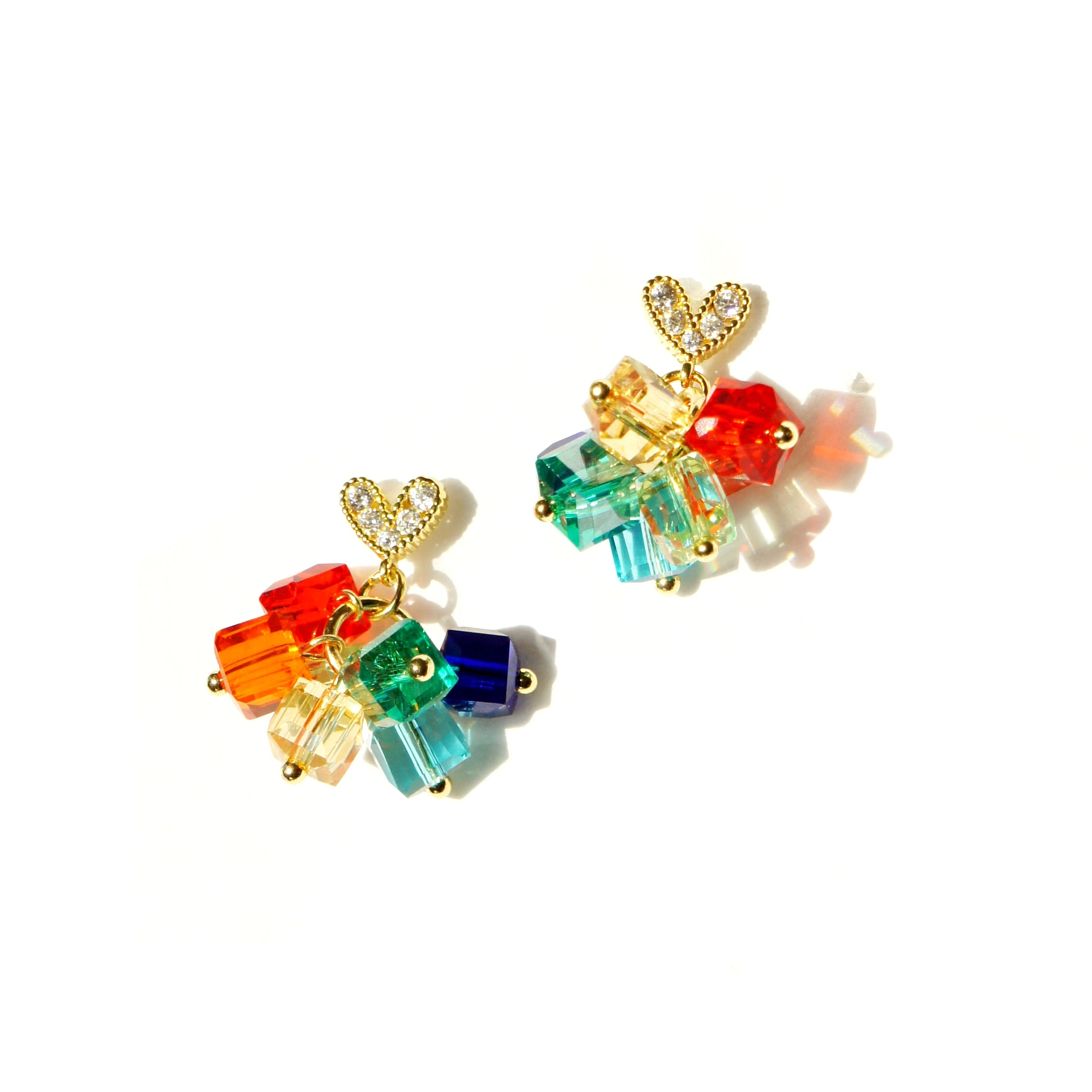 Over the Rainbow Crystal Drop Earrings