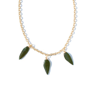 *REAL LEAVES* Be-leaf Gold-plated Necklace w/Evergreen Leaf Charms