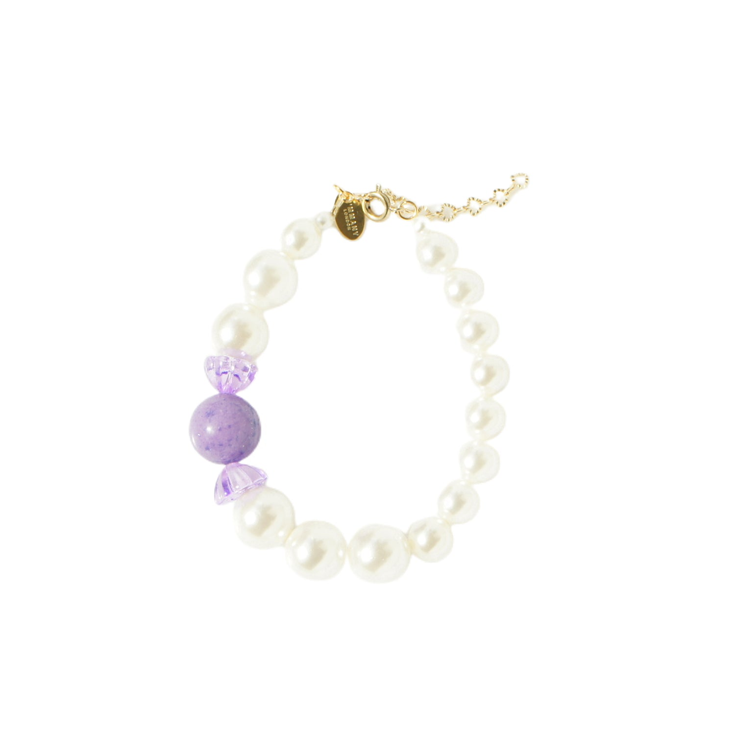 Sugar Sweet Gemstone Candy and Pearl Bracelet