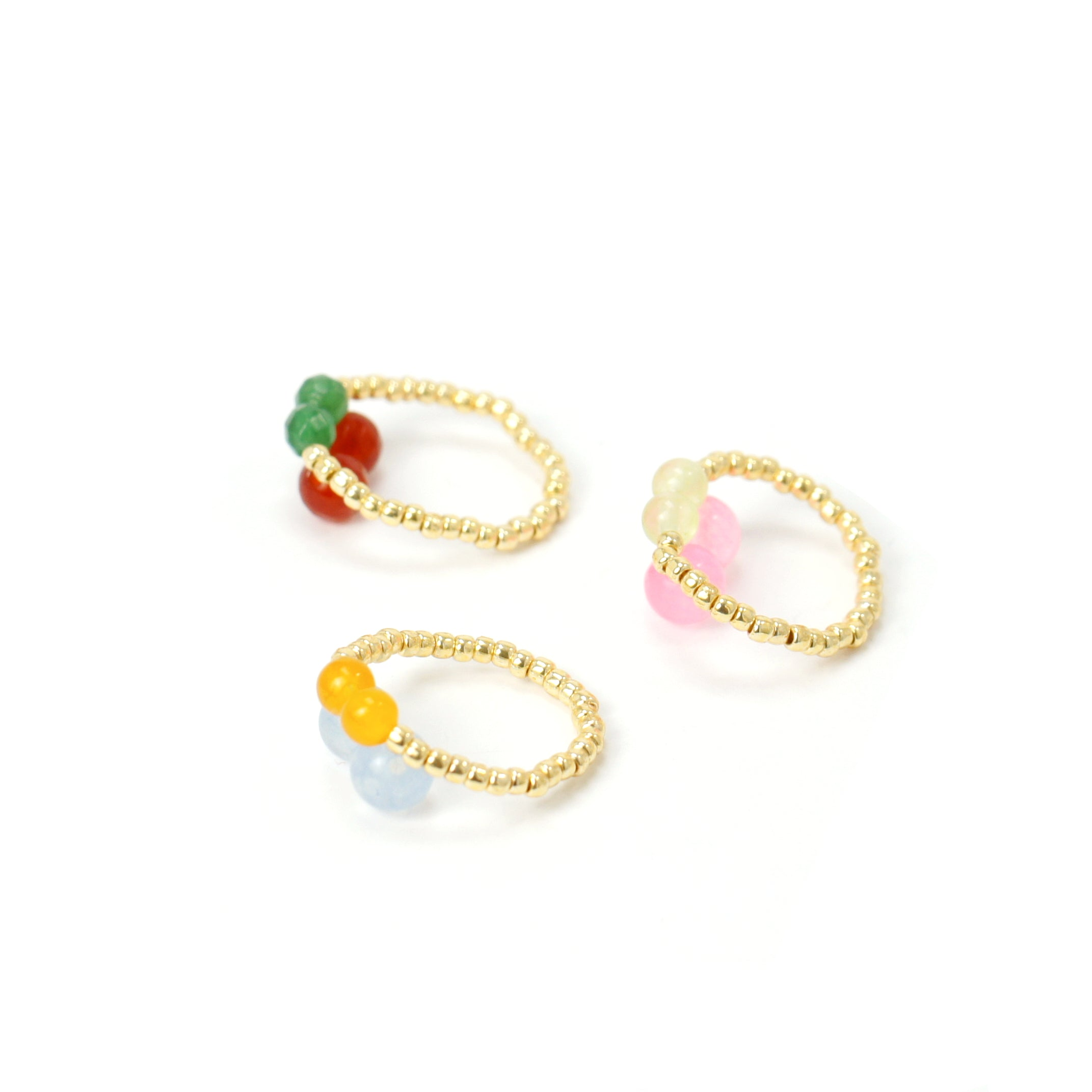 Cherry Pie Gemstone Beaded Ring