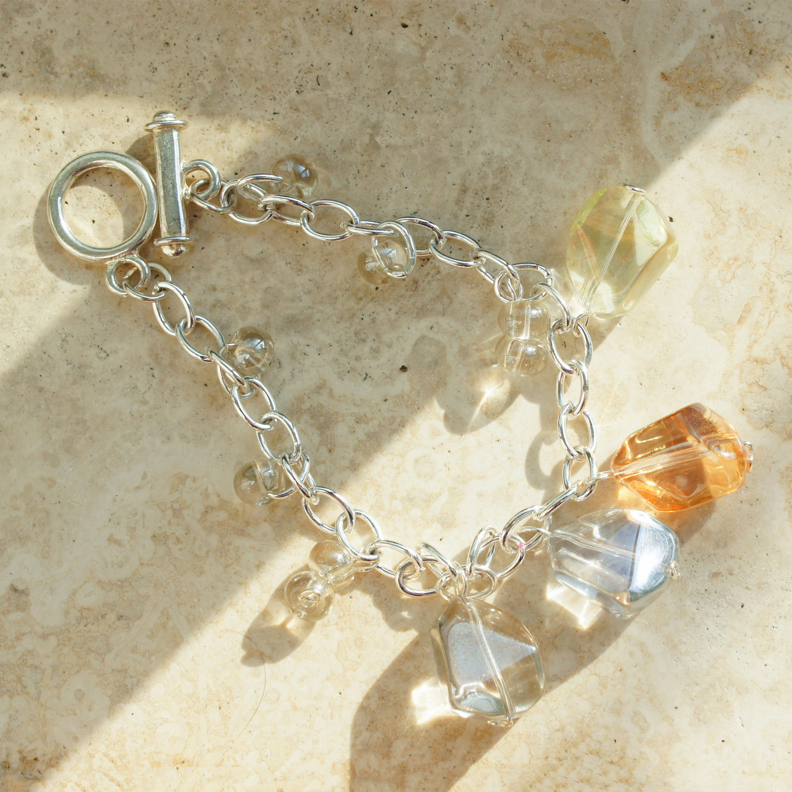 In the Dawn/Dusk Sterling Silver-plated Bracelet