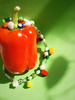 Load image into Gallery viewer, Garden Produce Glass Vegetable and Freshwater Pearl Necklace