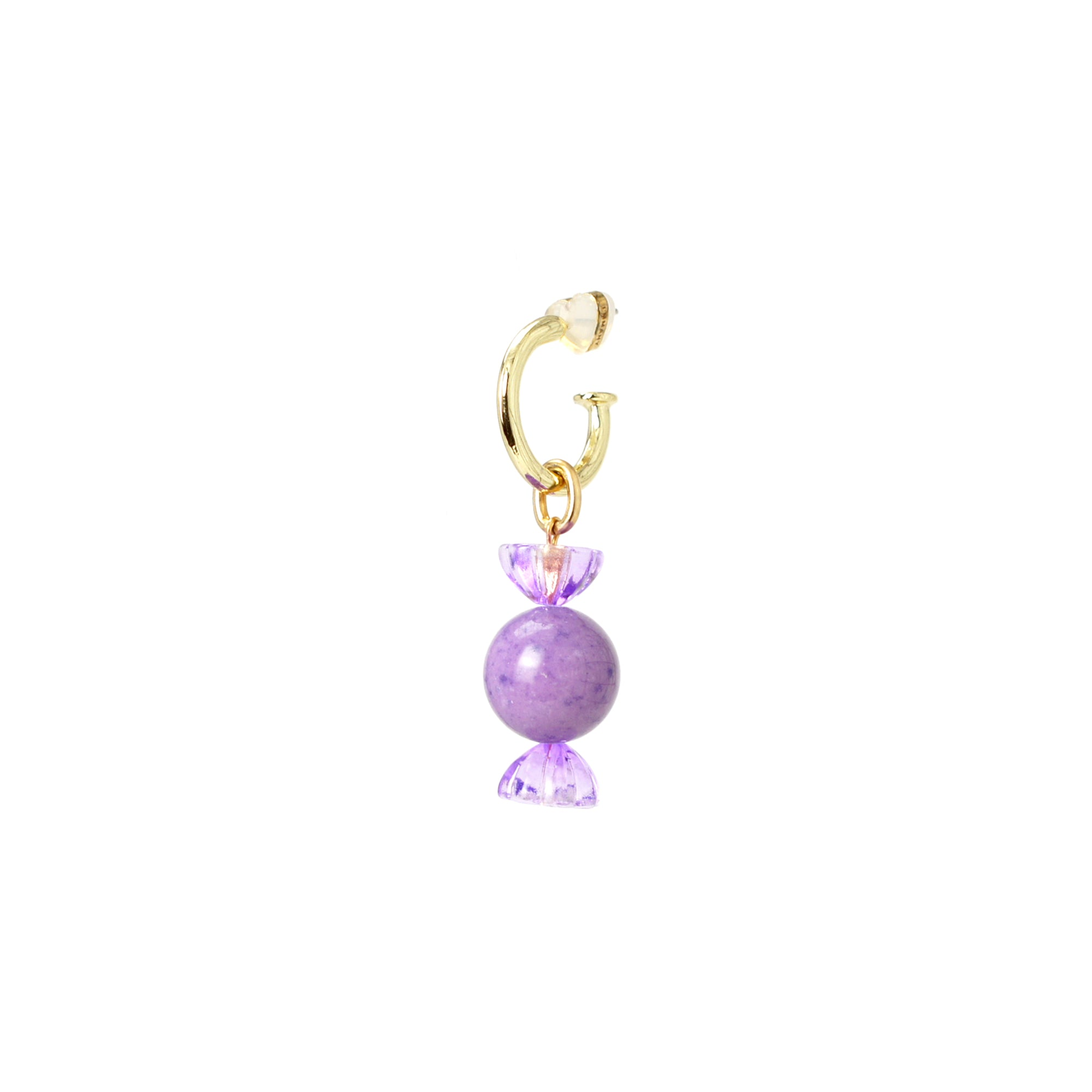 Sugar Sweet Gemstone Candy Drop Half Hoop Earring
