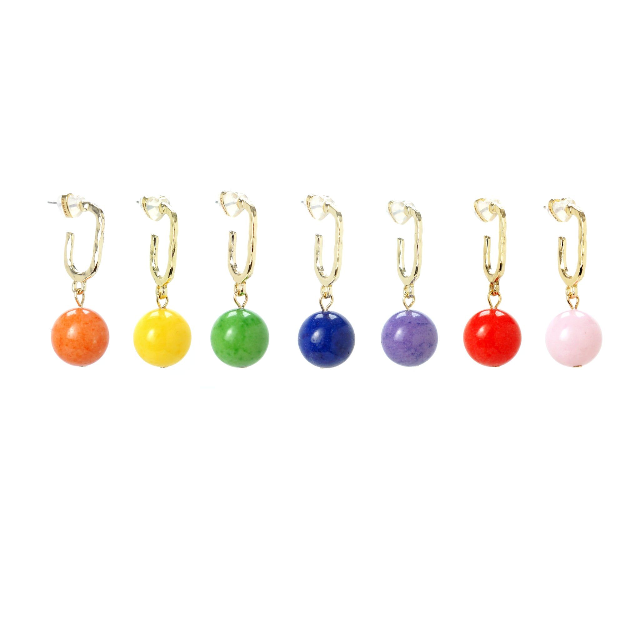 Rainbow Drops Gemstone Earrings