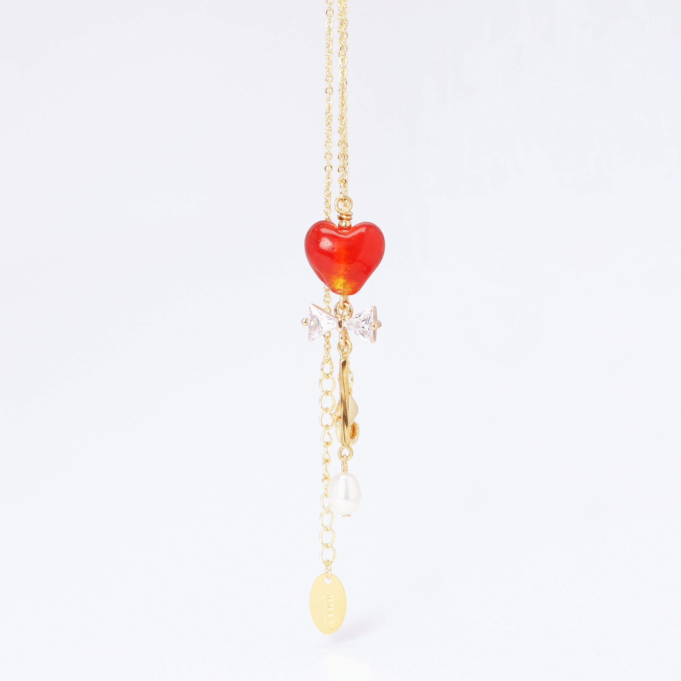 Guardian Hearts Necklace with Freshwater Pearl