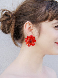 *REAL FLOWER* Paris Daisy Stud Earrings
