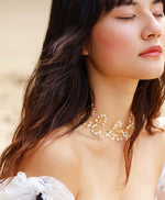 Load image into Gallery viewer, Soft Rime Freshwater Pearl Ribbon-tie Choker/Headband