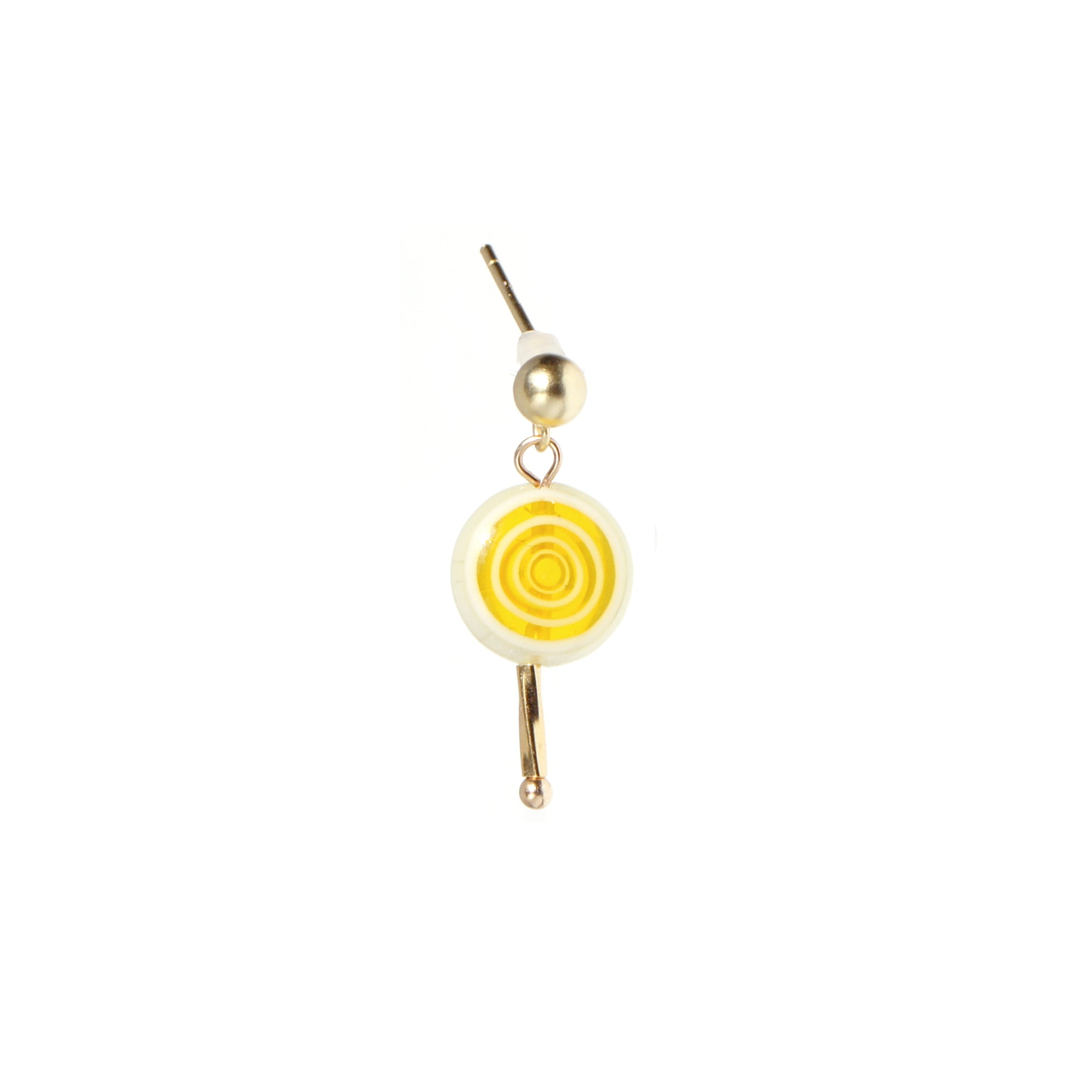 Sugar Sweet Swirl Lolli Stud Single Earring