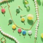 Load image into Gallery viewer, Sugar Sweet Swirl Lolli Necklace
