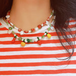 Load image into Gallery viewer, Tomato Salsa Freshwater Pearl Necklace