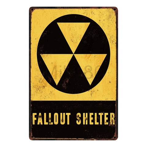 Fallout Shelter Sign Decor