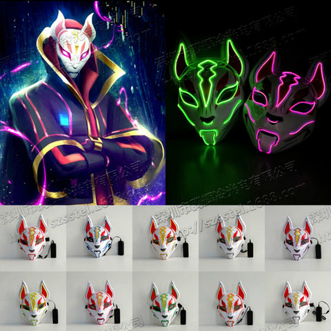 Fortnite Fox Drift  Mask Led Light Mask Cosplay Prop