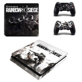 Rainbow Six Siege Skin Sticker Decals PlayStation 4 Slim Console and 2 controller skins