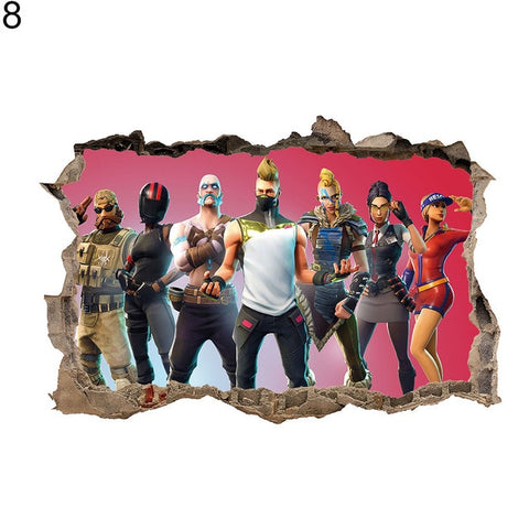 Fortnite Battle Royal Wall Sticker  3D Decal Home Decor