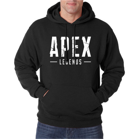Apex Legends Game Hoodies Men 2019 Spring Autumn Warm Fleece Sweatshirts Black Navy Blue Gray Hooded Hip Hop Gaming Hoodie S-XXL