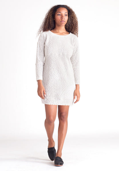 Pebble Knit Dress - Cream