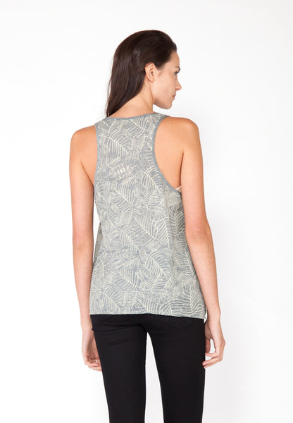 Tropical Leaves Tank - Ash