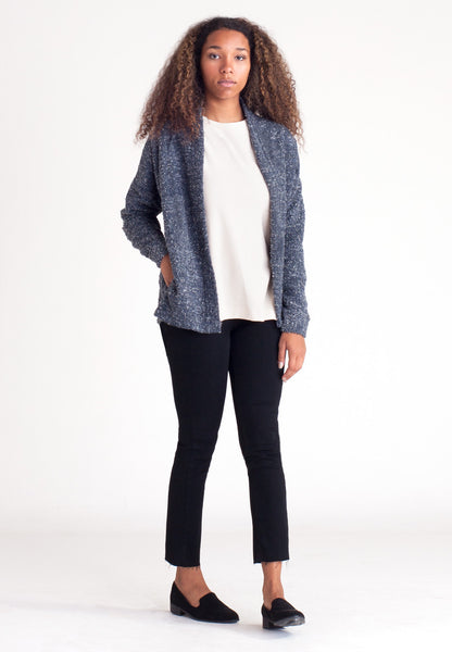 Pebble Knit Cardigan - Blue