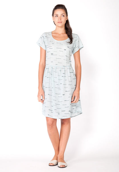 Sails Scoop Neck Dress - Ice