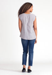 Fawn Scoop Blouse - Silver