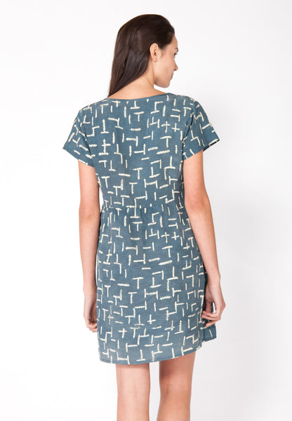 Summer Ferns Tee Dress - Marine