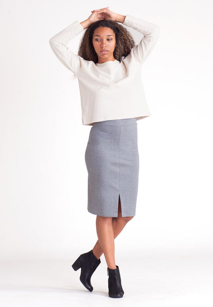 Ponte Pencil Skirt - Gray
