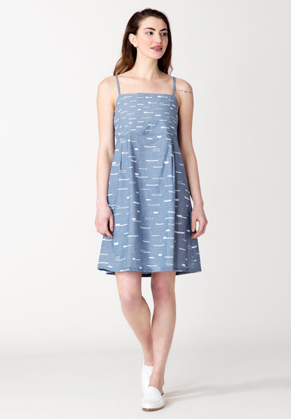 Sails A Line Tank Dress - Chambray