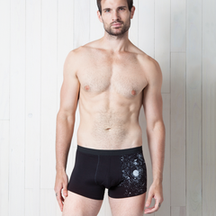 3-PACK Glow-in-the-Dark Solar System Men's Trunks Underwear