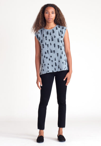 Drift Scoop Blouse - Glacier