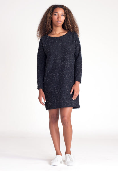 Pebble Knit Dress - Black