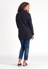 Pebble Knit Tunic - Black