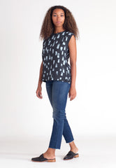 Drift Scoop Blouse - Kale