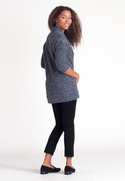 Pebble Knit Tunic - Blue
