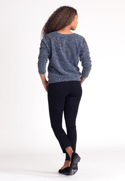 Pebble Knit Sweatshirt - Blue