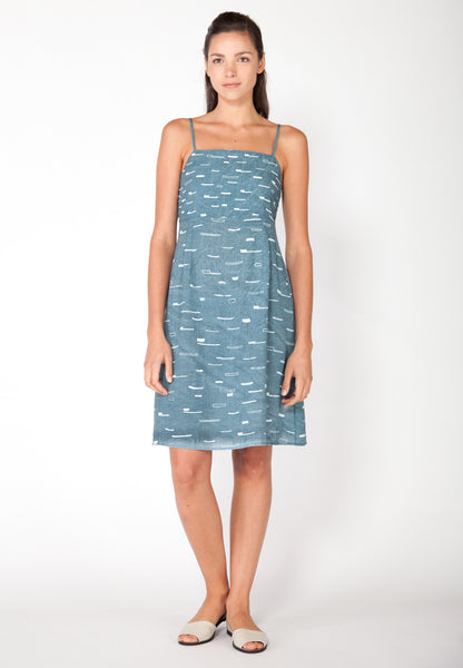 Sails A Line Tank Dress - Marine
