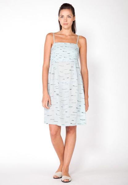 Sails A Line Tank Dress - Ice