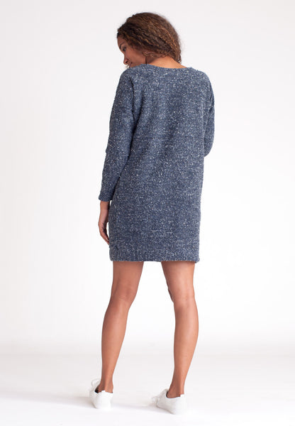 Pebble Knit Dress - Blue