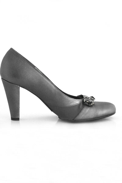 Casa Couture Victoria Silver Leather Heels